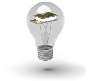 TEC device inside a light bulb