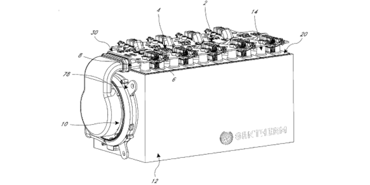 Patent image of battery pack cooled with thermoelectric modules