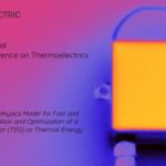 Thermoelectric generator module thermal image