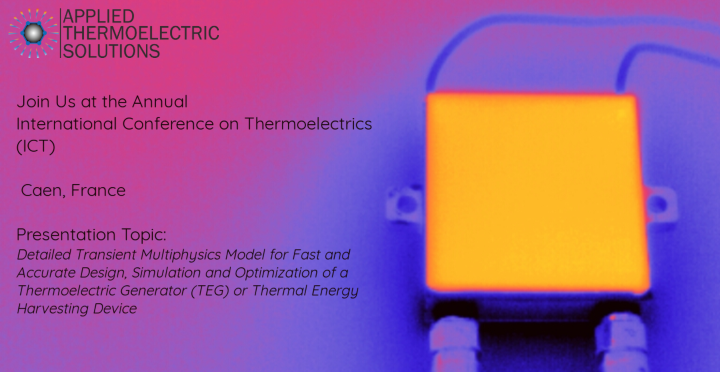 Thermoelectric generator module thermal image