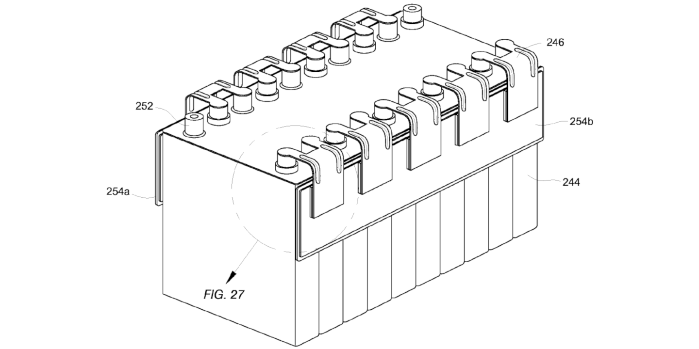 Patent image of thermoelectric battery cooling of battery terminals